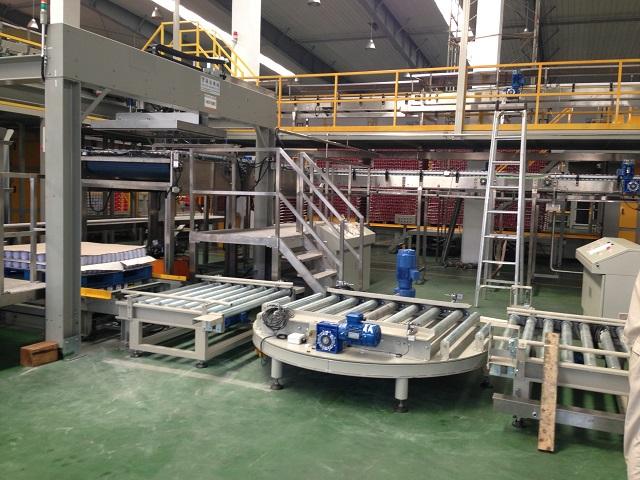 Magnet method steel can load/unload machine